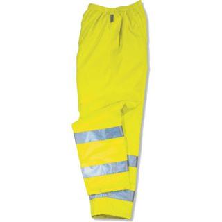 Ergodyne High Visibility Class E Rain Pant   Lime, XL, Model# 8915