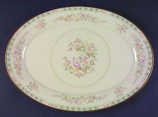 Lenox China Fair Isle 16 Oval Serving Platter, Fine China Dinnerware   White Fl