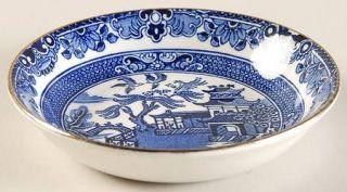 Burgess & Leigh Blue Willow (Gold Trim) Fruit/Dessert (Sauce) Bowl, Fine China D