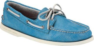 Mens Sperry Top Sider A/O 2 Eye Washed   Light Blue Full Grain Leather Sailing