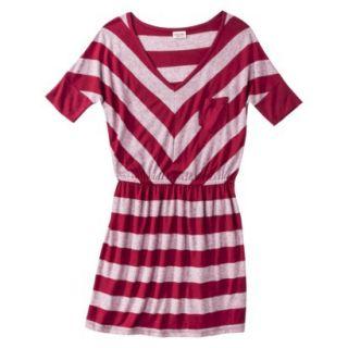 Mossimo Supply Co. Juniors V Neck Dress   Cranberry Zing XS(1)