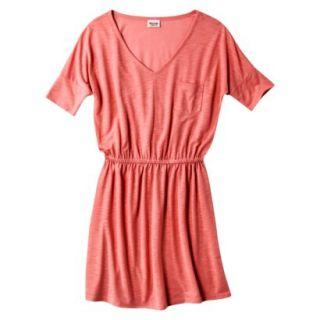 Mossimo Supply Co. Juniors V Neck Dress   Maori Flower Red XS(1)