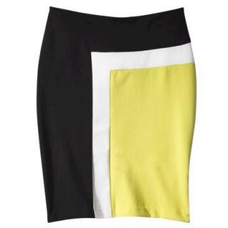 Merona Womens Colorblock Ponte Skirt   4