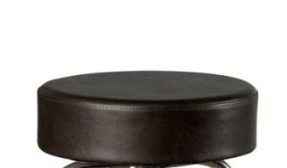 Oak Street Mfg Replacement Button Top Bar Stool Seat, Espresso Vinyl