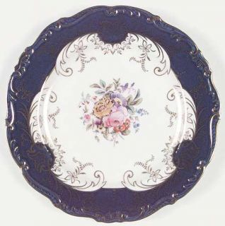 Coalport Sandringham Cobalt Blue (9231) Dinner Plate, Fine China Dinnerware   Co