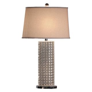 Crestview Collection Sand Shell Table Lamp Multicolor   CVAP1253