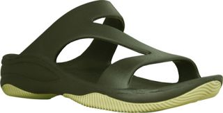 Womens Dawgs Z Sandal/Rubber Sole   Olive Green/Sage Casual Shoes