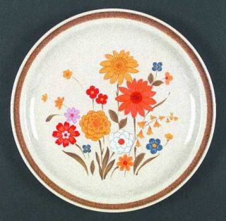 Montgomery Ward Fiesta Dinner Plate, Fine China Dinnerware   Multifloral,Yellow/