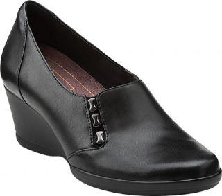 Womens Clarks Neala Sun   Black Leather Casual Shoes