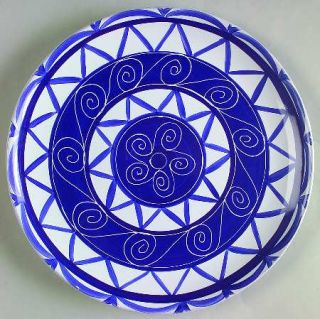 Block China Cote DAzur Luncheon Plate, Fine China Dinnerware   Blue & White Scr