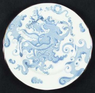 Royal Worcester Blue Dragon (Coburg, Scalloped) Salad Plate, Fine China Dinnerwa