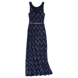 Merona Womens Maxi Dress w/Belt   Navy Chest   S
