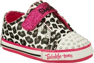 Infant/Toddler Girls Skechers Twinkle Toes Baby Sparks Critter Pawz   White Sne