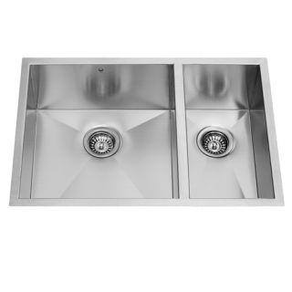 Vigo Industries VG2920BL Kitchen Sink, 29 Undermount 16 Gauge Double Bowl Stainless Steel