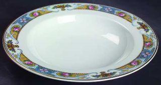 Black Knight Rosari  (Smooth,Fruit Basket,Blue) Rim Soup Bowl, Fine China Dinner
