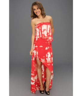 BCBGMAXAZRIA Daniella Strapless Drape Gown Womens Dress (Red)