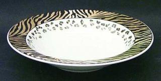 Studio Nova Jungle Beat Rim Soup Bowl, Fine China Dinnerware   Leopard&Tiger Pri