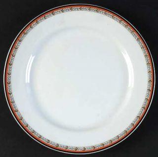 Royale (France) Adriana Brique Salad Plate, Fine China Dinnerware   Orange/Rust,