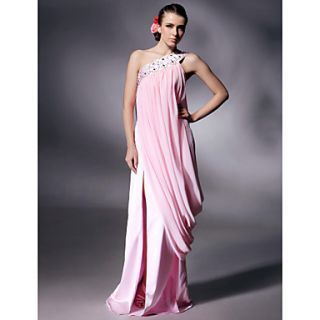 Chiffon Charmeuse Column Floor length Evening/Prom Dress inspired by Kate Beckinsale at Cannes Film Festival
