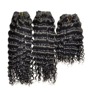 Brazilian Deep Wave Weft 100% Virgin Remy Human Hair Extensions Mixed Lengths 10 12 14 Inches