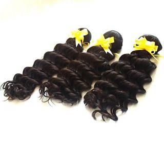12 Inch 3pcs/lot Grade 5A Brazilian Virgin Hair Deep Wave Hair Extensions/Weaves