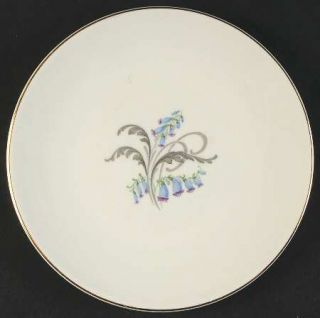 Edwin Knowles Bluebells Bread & Butter Plate, Fine China Dinnerware   Bluebell F