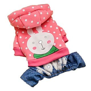 Lovely Spot Rabbit Style Cotton Hoodies with Pants for Dogs (XS XL)