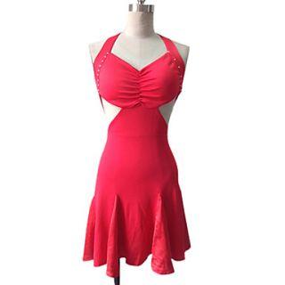 Dancewear Polyester With Ruffles Latin Dance Dress for Ladies