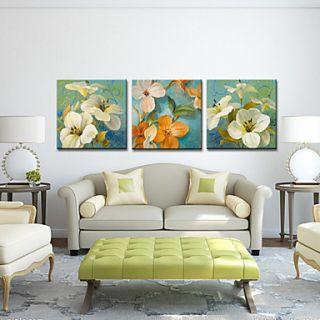 Stretched Canvas Art Floral Spring Set of 3