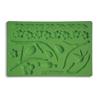 Fondant Gum Paste Fabric Designs Silicone Mold Cake Decorating Leaf And Flower
