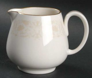 Franciscan Talisman Creamer, Fine China Dinnerware   Fine China, Coupe, Gold Tri