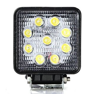 27W FLOOD Driving LED Work Light Offroad 4x4 Camping 4WD SUV Car Boat