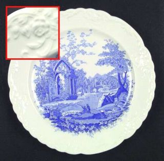 Taylor, Smith & T (TS&T) English Abbey Blue Dinner Plate, Fine China Dinnerware