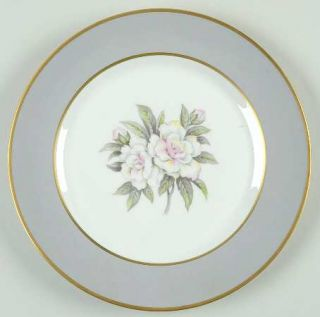 Royal Jackson Countess Heirloom Gray (Gold) Salad Plate, Fine China Dinnerware