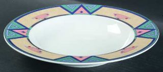 Christopher Stuart Montero Large Rim Soup Bowl, Fine China Dinnerware   Tan Bord