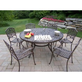 Oakland Living Mississippi 60 in. Patio Dining Set   Seats 6 Multicolor   2205