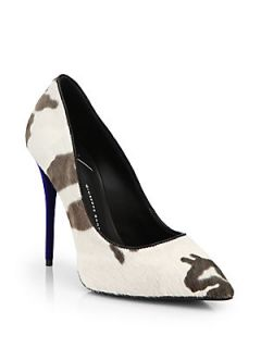 Giuseppe Zanotti Camouflage Print Calf Hair Pumps   Camouflage
