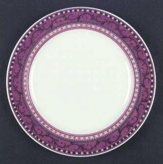 Mikasa Estrella Dinner Plate, Fine China Dinnerware   Intaglio, Pink Flowers On