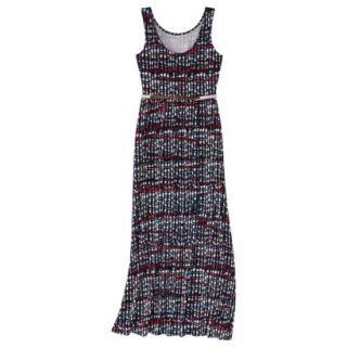 Merona Womens Maxi Dress w/Belt   Xavier Navy   XL