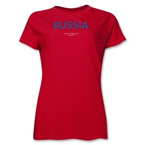 Russia 2013 FIFA U 17 World Cup UAE Womens T Shirt (Red)