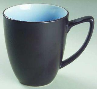 Ty Pennington Style Bali Hai Mug, Fine China Dinnerware   Blue Inside/Top, Charc