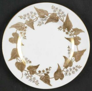 Wedgwood Buxton Gold Bread & Butter Plate, Fine China Dinnerware   Gold Ivy Leav