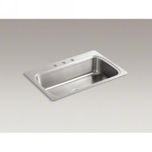 Kohler K 3373 3 NA VERSE Verse Self Rimming Single Compartment Stainless Steel K