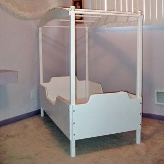 Jasmine Canopy Toddler Bed Multicolor   WHITE CANOPY BED