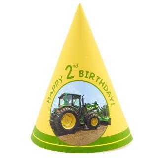 John Deere 2nd Birthday Cone Hats