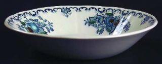 Masons Fruit Basket Blue Multicolor Fruit/Dessert (Sauce) Bowl, Fine China Dinn