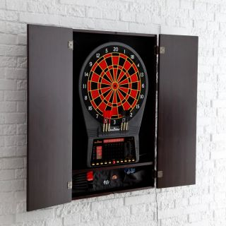 Arachnid Cricket Pro 750 Electronic Dart Board with Cabinet   GG430 2