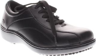 Womens Spring Step Monaco   Black Leather Casual Shoes