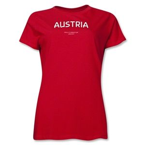 Austria 2013 FIFA U 17 World Cup UAE Womens T Shirt (Red)
