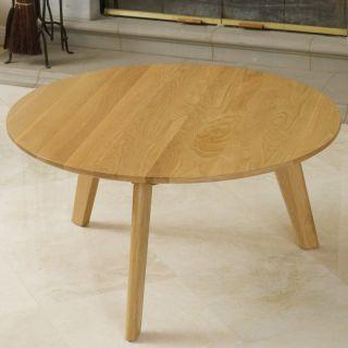 Russert Solid Oak Coffee Table   Oak Multicolor   237184